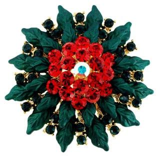 Christmas Poinsettia Pin Christmas Pin Brooch