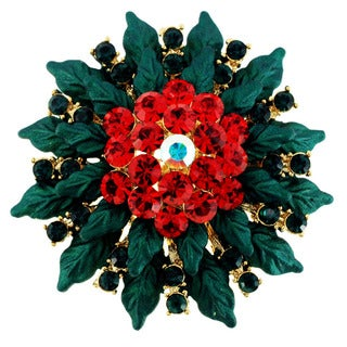 Christmas Poinsettia Pin Christmas Pin Brooch