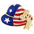 July 4th American Flag Hat Pin Brooch