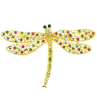 Multicolor Dragonfly Pin Brooch and Pendant
