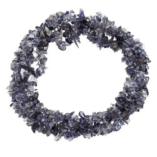 7-inch Iolite Strech Bracelet