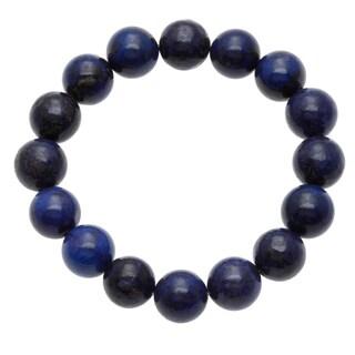 7-inch Lapis Bead Stretch Bracelet