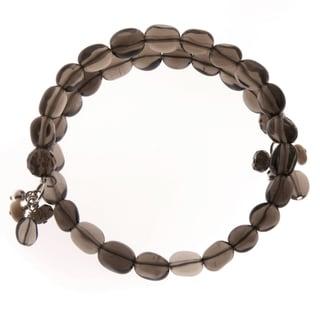 Smokey Topaz Coil Bracelet