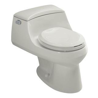 Kohler San Raphael Ice Grey 1-piece 1.6 GPF Round Front Toilet