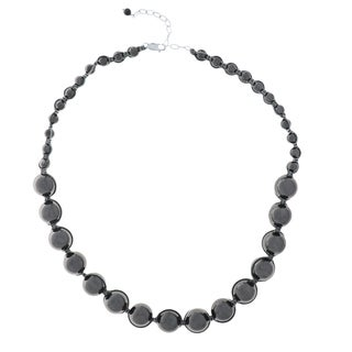 20-inch Hematite Bead Necklace