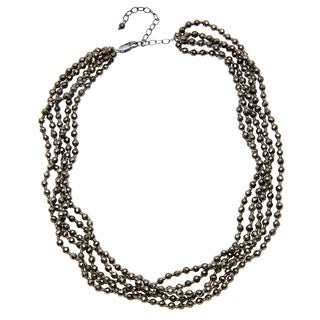 Sterling Silver 20-inch Pyrite Necklace