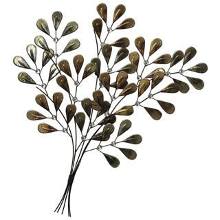 Elements 'Seedling Tree' 31x29-inch Gold Metal Wall Art