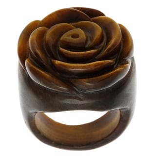 Tiger's Eye Flower Ring