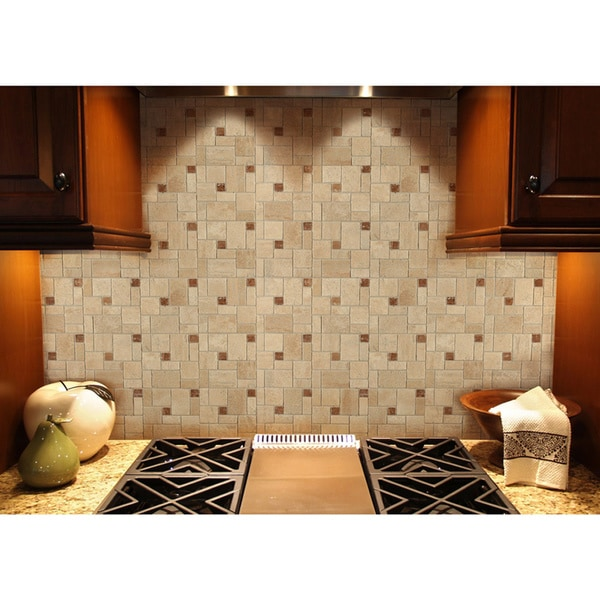 Stick and peel backsplash tiles