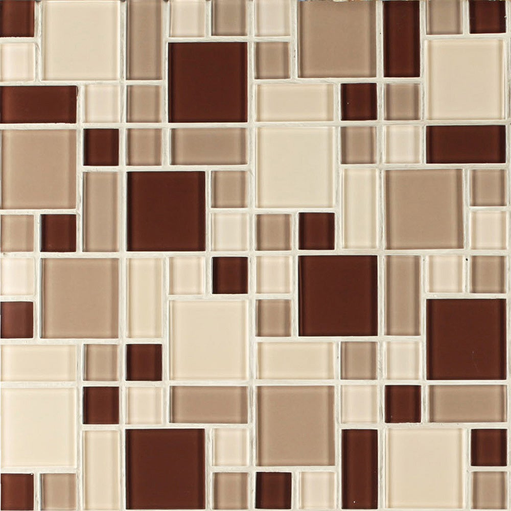 Instant Glass Peel and Stick Mosaic Taupe Tile at Sears.com