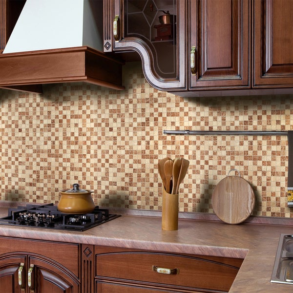 instant mosaic stone peel and stick tile 15846017