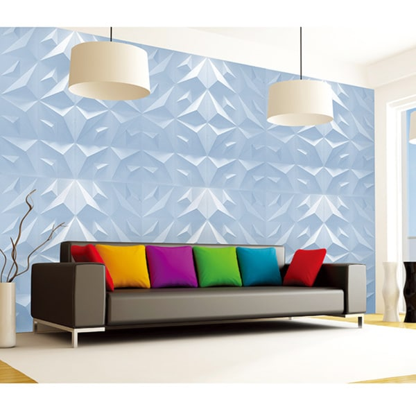 Paintable Triangle 3D Wall Panels