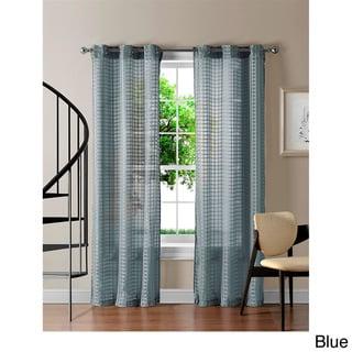 Jacob Grommet Sheer Gingham 84-inch Curtain Panel Pair