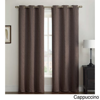Kenneth Grommet 84-inch Curtain Linen/Polyester Panel Pair