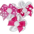 Pink Decorative Confetti Ribbon Flowers (Set of 12)