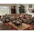Brayden Motion Brown Plush Mink 3-piece Sectional Sofa
