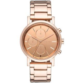 DKNY Women's Mirror Rose-gold-tone Chronograph Watch
