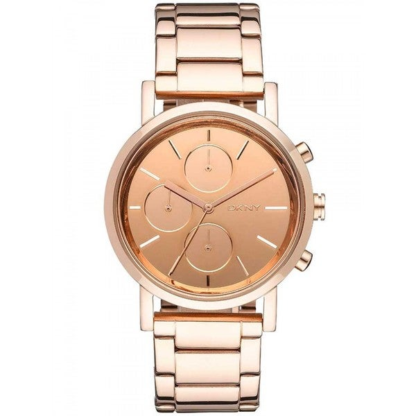 DKNY Women's Mirror Rose-gold-tone Chronograph Watch