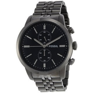 Fossil Men's FS4786 Townsman Black Stainless Steel Watch