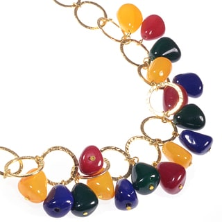 Haya Multi-colored Agate Handmade Necklace (India)