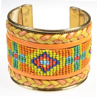 Haya Seed Beaded Cuff Handmade Bracelet (India)