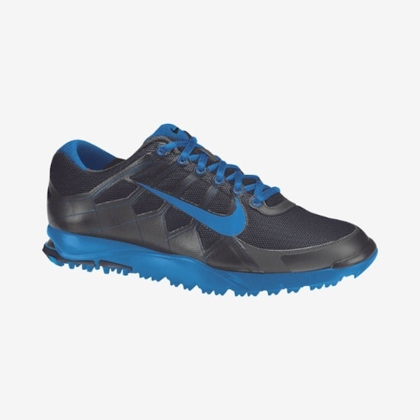 Nike Men's Air Range WP II Dark Grey/ Blue Golf Shoes