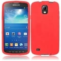 BasAcc Red Silicone Case for Samsung Galaxy S4 Active i537