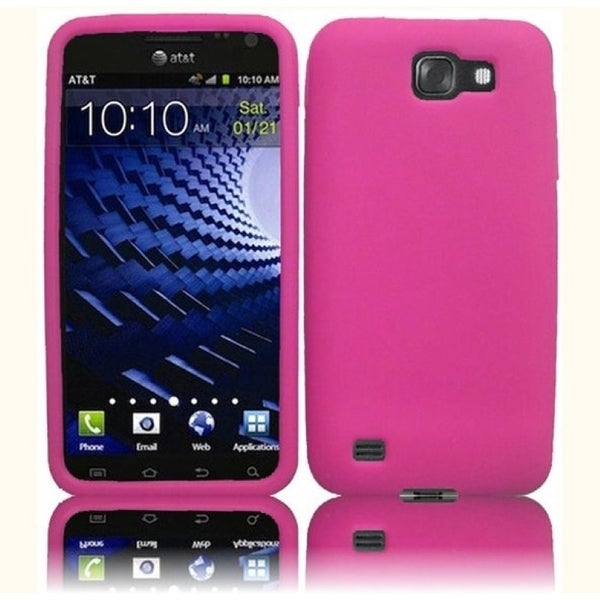 INSTEN Pink Rubber Soft Silicone Soft Skin Gel Phone Case Cover for Samsung Galaxy S2 Skyrocket