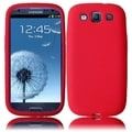 BasAcc Red Silicone Case for Samsung Galaxy S3 i9300/ i747/ L710