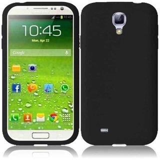 INSTEN Black Rubber Soft Silicone Soft Skin Gel Phone Case Cover for Samsung Galaxy S4 LTE version GT-I9506/ S4 GT-i9500