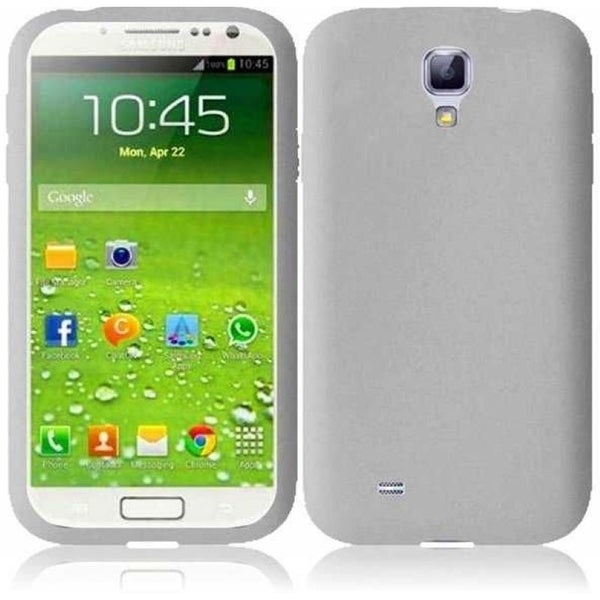 INSTEN Clear Rubber Soft Silicone Soft Skin Gel Phone Case Cover for Samsung Galaxy S4 LTE version/ S4