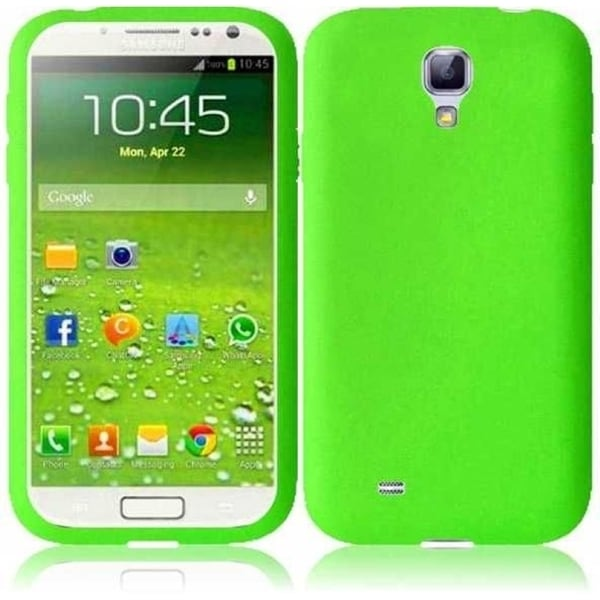 INSTEN Green Rubber Soft Silicone Soft Skin Gel Phone Case Cover for Samsung Galaxy S4 LTE/ S4