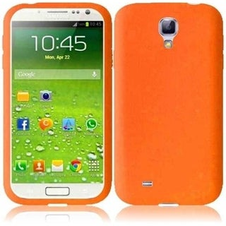 BasAcc Orange Rubber Silicone Soft Skin Gel Phone Case Cover For Samsung Galaxy S4 LTE version GT-I9506/ S4 GT-i9500