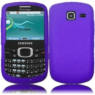 INSTEN Purple Soft Silicone Phone Case Cover for Samsung Freeform 4 R390/ Comment 2
