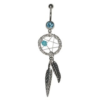 Supreme Jewelry Surgical Steel Dream Catcher Star Woven Belly Ring
