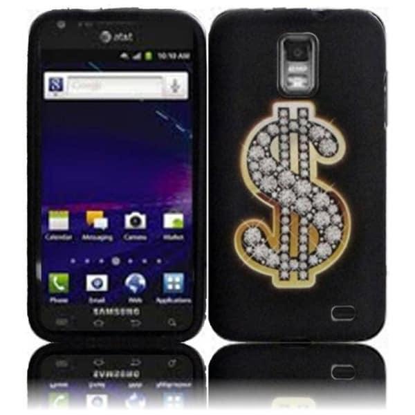 INSTEN Black Dollar TPU Rubber Candy Skin Phone Case Cover for Samsung Galaxy S2 Skyrocket SGH-i727