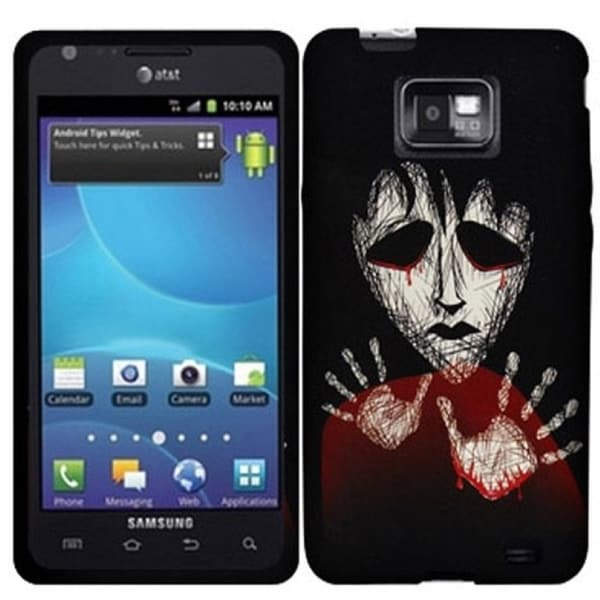 INSTEN Black Zombie TPU Rubber Candy Skin Phone Case Cover for Samsung Galaxy S2 Attain SGH-I777 AT&T