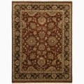 Hand-Made Oriental Pattern Red/ brown Wool Rug (4x6)
