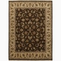 Hand-Made Oriental Pattern brown/ Tan Wool Rug (8x10)