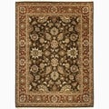 Hand-Made Oriental Pattern brown/ Red Wool Rug (9x12)