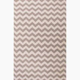 Handmade Easy-care Gray/ Ivory Wool Area Rug (9' x 12')