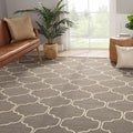 Handmade Moroccan Pattern Gray/ Ivory Wool Rug (2 x 3)