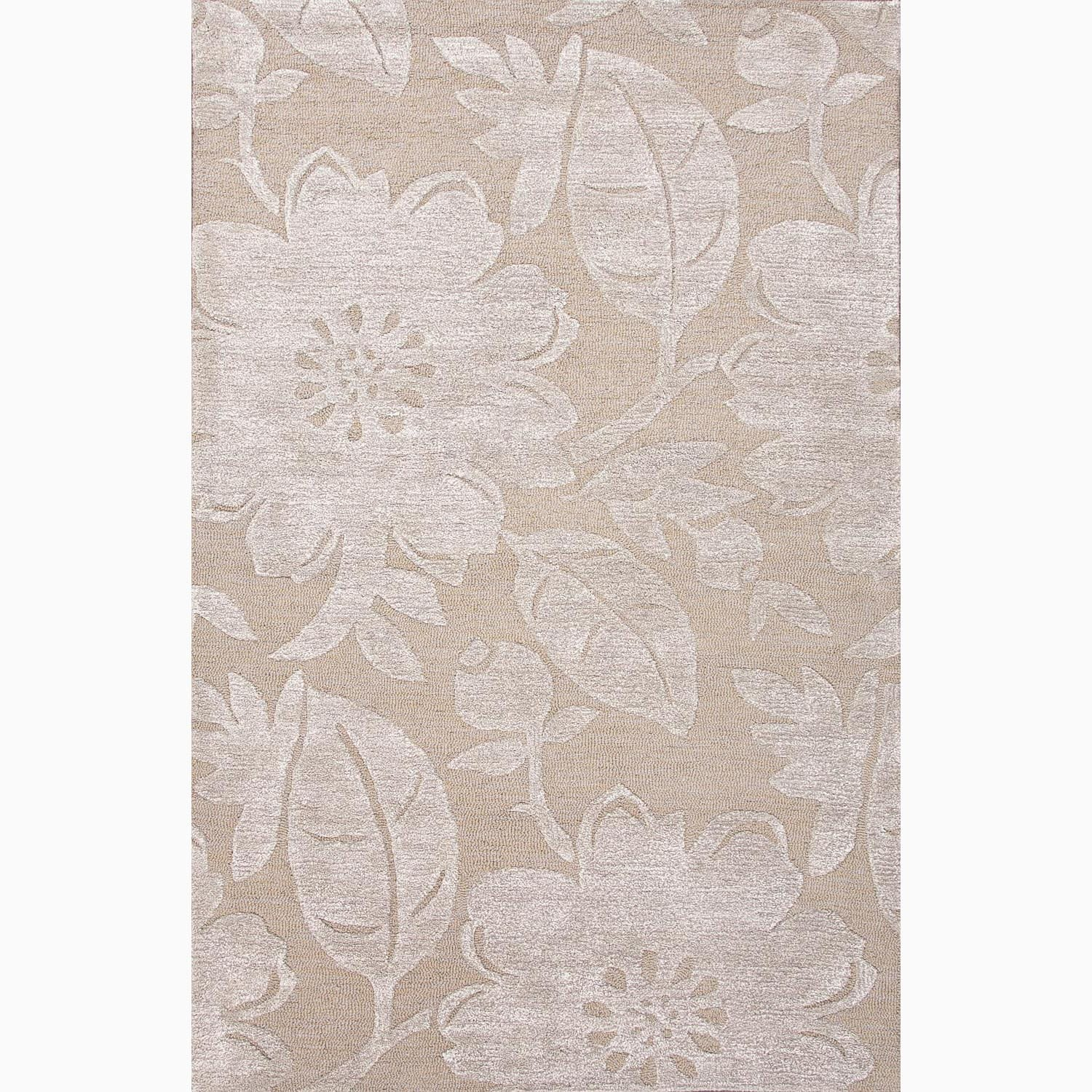 Handmade Taupe/ Gray Wool/ Art Silk Plush Pile Rug (9 x 12)