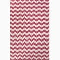 Hand-Made Pink/ Ivory Wool Easy Care Rug (2X3)