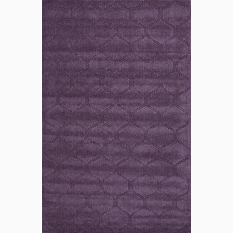 Handmade Purple Wool Te x tured Rug (5 x 8)
