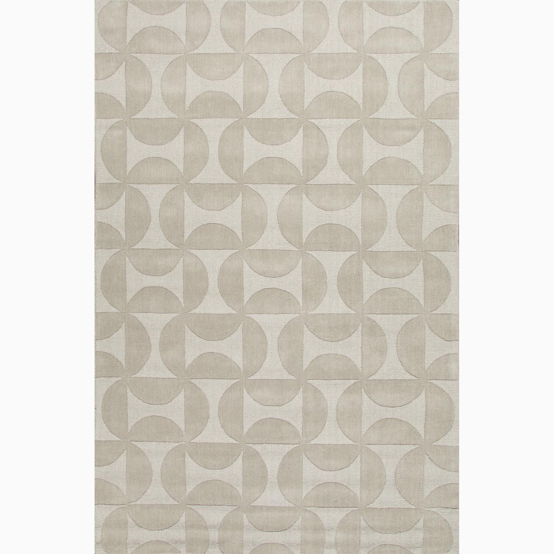 Handmade Ivory/ White Wool Te x tured Rug (8 x 11)