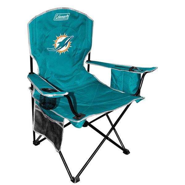 Coleman NFL Miami Dolphins XL Cooler Quad Chair 12083156