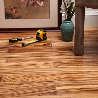 "Envi Exotic Natural Zebrawood 5/16"" x 3 inch Engineered Hardwood Flooring"