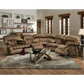 Carrington Motion Brown Plush Mink 3-piece Sectional Sofa