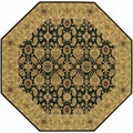 Royal Kashimar All Over Vase/Black-Deep Maple 6'6 Octagon Rug